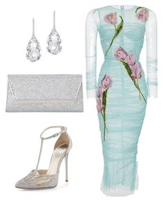 """Maid of Honor"" by kmags4 on Polyvore featuring Dolce&Gabbana, René Caovilla, Plukka and Jimmy Choo"