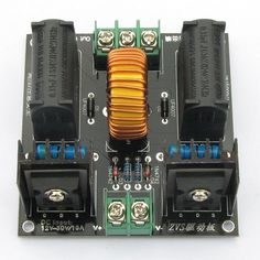 Load image into Gallery viewer, Finished ZVS Tesla coil power boost high voltage generator drive plate induction heating module production Tesla Coil Circuit, Diy Tesla Coil, Electronic Circuit Design, Electronic Engineering, Circuit Components, Air Conditioner Parts, Induction Heating, Nikola Tesla