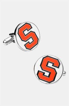March Madness Style: Ravi Ratan Syracuse University Orange Cuff Links | Nordstrom
