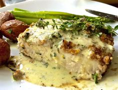 Ciao Chow Linda: Grilled Swordfish in Lemon Caper Cream Sauce Fish Dishes, Seafood Dishes, Seafood Recipes, Cooking Recipes, Healthy Recipes, Shellfish Recipes, Salmon Recipes, Recipes Dinner, Main Dishes