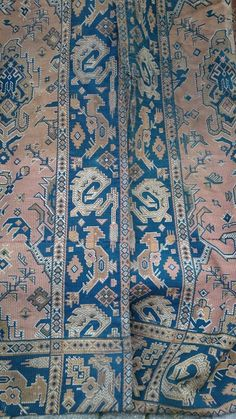 SUPERB Pr LARGE ANTIQUE FRENCH TAPESTRY CHATEAU CURTAINS c1880 KILIM DESIGN in Antiques | eBay