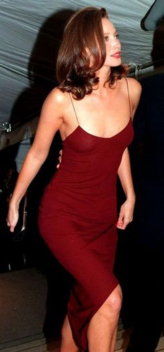 Christy Turlington met gala slip red #dress #Friday #Fashion #Style