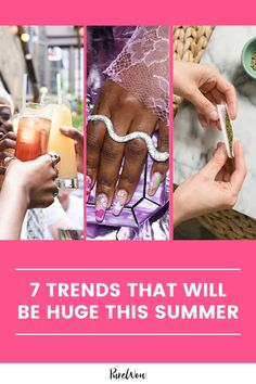 From y2k-inspired nails to hosting from home, here are seven trends you can expect to see a lot of over the next few months. #trends #y2k #summer Home Trends, New Trends, Color Trends, Latest Trends, Get Excited, I Love Books, Summer Trends, Minimalist Fashion, My Love