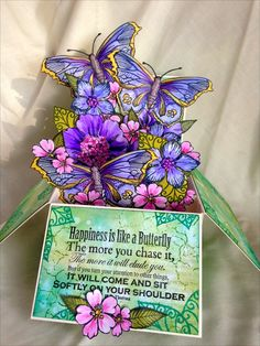 Donna's Little Crafty Corner: A box full of flowers and butterflies.....