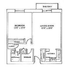 Aster (one bedroom 780 s.f.)