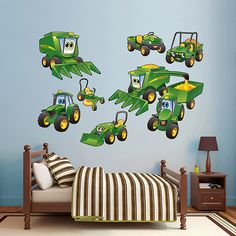 Farm Yard Animal Cow Tractor Fully Lined Bedroom Curtains