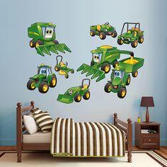 John Deere Johnny Tractor Farming Collection | REAL.BIG. Fathead – Peel & Stick Wall Graphic | John Deere Wall Decal | Kids Decor | Bedroom/Playroom/Nursery