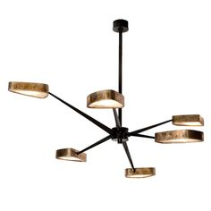 """""""Spider"""" Bronze and Onyx Chandelier by Achille Salvagni   From a unique collection of antique and modern chandeliers and pendants  at https://www.1stdibs.com/furniture/lighting/chandeliers-pendant-lights/"""