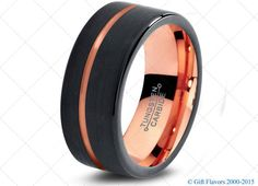 2015 Must Have Midnight Rose Collection™ Wedding Bands  High Quality In style Tungsten Carbide Wedding Bands - Comfort Fit - 4mm 6mm 9mm 12mm - 18K