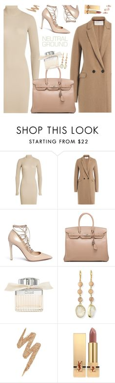 """Nude outfit"" by nastenkakot ❤ liked on Polyvore featuring adidas Originals, Harris Wharf London, Valentino, Hermès, Chloé, Panacea, Urban Decay, Yves Saint Laurent and Kendra Scott"