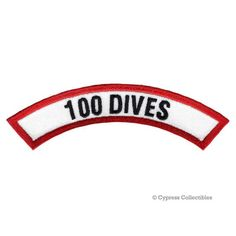 Cavern Diver Chevron Patch Embroidered Iron-on NEW