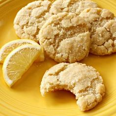 Lemon Olive Oil Cookies I made mine with Authentic Foods Gluten free All-purpose flour. They were perfect! Köstliche Desserts, Delicious Desserts, Dessert Recipes, Yummy Food, Cookies Receta, Yummy Cookies, Cookies Vegan, Lemon Recipes, Sweet Recipes