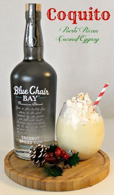 Coquito Puerto Rican Coconut Eggnog for the holiday season. What makes this one special is it has no eggs.