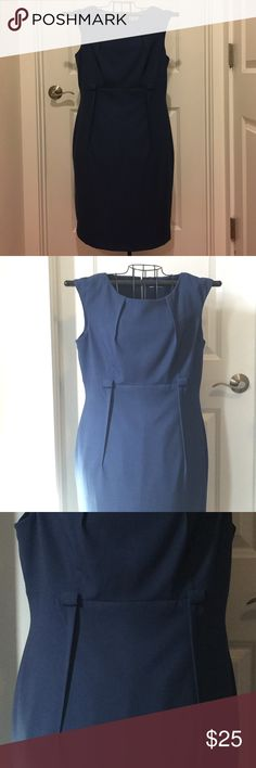 Gorgeous Calvin Klein Dress This beautiful Calvin Klein lined dress is perfect for work or an interview! It has small belt loops for a dressy slimy belt(not included). Can be worn with or without belt! It's has pleats down the front for that extra detail! This dress is in great condition! Calvin Klein Dresses
