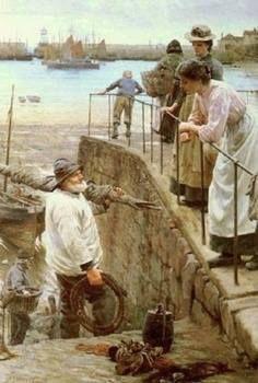 'BETWEEN THE TIDES'   Walter Langley: Newlyn School of Art.