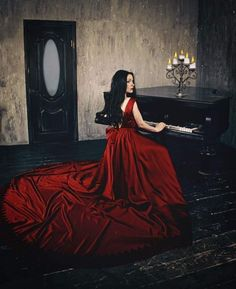 Lady in red by on DeviantArt Gothic Fantasy Art, Dark Fantasy, Beautiful Dark Art, Beautiful Pictures, Beautiful Things, Covet Fashion, Women's Fashion, Vampires, Gothic Pictures