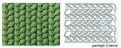 Diagrama y muestra punto crochet