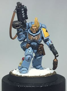 Space Wolves Primaris Lieutenant painted by Rabid Dog Studios, England