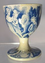 18/19th  Century transfer-ware Egg Cup