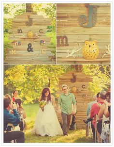 similar to this with bride/groom initials plus kids w/ smaller letters under