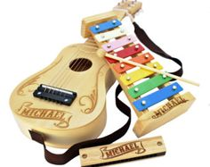 Kids Musical Instruments Set of 3 Kids Guitar Kids Xylophone Kids Harmonica Personalized