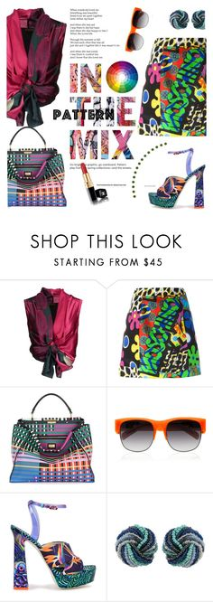"""""""Stay Bold: Pattern Mixing"""" by lacas ❤ liked on Polyvore featuring Malìparmi, Moschino, Fendi, Matthew Williamson, Rossetto, Sophia Webster and patternmixing"""