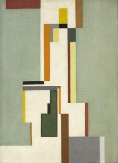 thunderstruck9: Walter Dexel (German, 1890-1973), 1923 III, 1923. Oil on canvas, 40 x 30 cm.