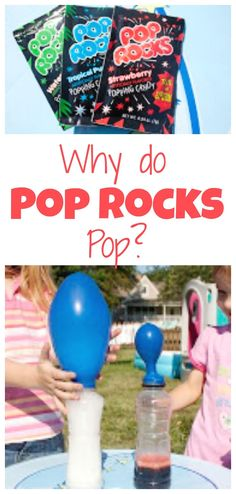 See the gas that is in Pop Rocks and determine if eating them while drinking pop really is hazardous to your health! See the gas that is in Pop Rocks and determine if eating them while drinking pop really is hazardous to your health! Rock Science, Science Party, Stem Science, Easy Science, Preschool Science, Science For Kids, Preschool Plans, Science Week, Preschool Education