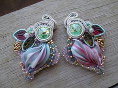 orecchini shibori & soutache