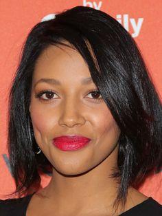 Kylie Bunbury's Bright Fuchsia Lips