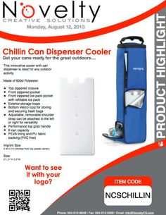 The Chillin Can Dispenser Can Dispenser, Ice Pack, The Great Outdoors, Announcement, Highlights, Activities, Canning, Luminizer, Outdoor Living