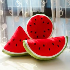 Cartoon fruit watermelon pillow, cute creative personality cushions, plush toys, gifts ...