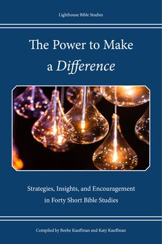 "What difference are you making in the world today?  I call this new book ""the power book"" because it addresses the explosive power of four areas of our lives - the power of words, the power of doing, the power of knowing, and the power of prayer. Twenty-seven authors contributed forty short Bible studies to this compilation. Officially releases January 28, 2020!"