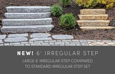 Rosetta Steps: Irregular Landscaping Steps