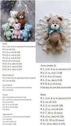 Amigurumi Little Bear Free Crochet Pattern – Amigurumi Crochet – Slideit.top Informations About Amigurumi Little Bear Free Crochet Pattern – Amigurumi Crochet – Slideit. Bunny Crochet, Crochet Bear Patterns, Amigurumi Patterns, Crochet Dolls, Free Crochet, Free Knitting, Crocheted Animals, Crochet Dragon, Knitting Needles