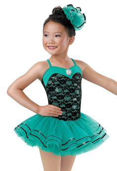 Girls' Emerald Sequin Lace Dress; Weissman Costume(thank heaven for little girls)