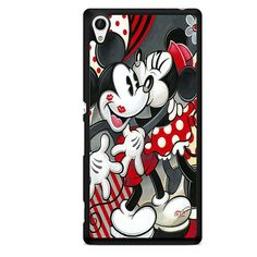 Hugs And Kisses Disney Mickey Minnie Mouse TATUM-5381 Sony Phonecase Cover For Xperia Z1, Xperia Z2, Xperia Z3, Xperia Z4, Xperia Z5