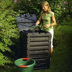 The Eco Master Composter makes it easy to make your own garden composter.