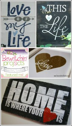 DIY Decor: Signs with Sayings about Life, Love, and Home. Wood Pallets, Framed Art