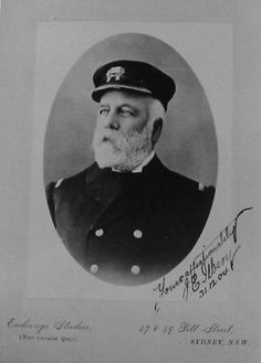 Captain J E Ilbery of S.S. Waratah which disappeared mysteriously 26/27 July 1909 off the southern coast of South Africa