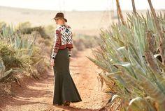 AH-MAZING AMAZING! Cheyenne Cardigan, Dramatic Train Skirt, Holbeck Leather Tie Hat