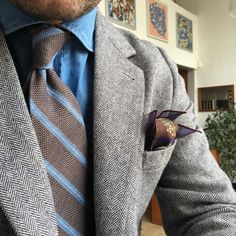 542 отметок «Нравится», 15 комментариев — Handcrafted ✂️ Accessories. (@poszetkacom) в Instagram: «Today { linen untipped tie - tweed jacket - denim shirt - modal + cotton + cashmere PS }»