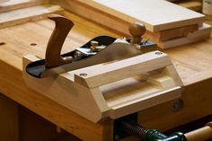 This afternoon's project? An adjustable miter shooting board for my low angle… #woodworkingbench