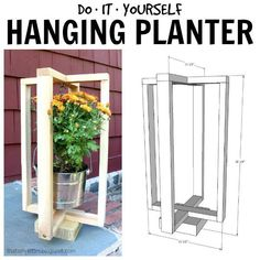 That's My Letter: diy hanging planter free plans Building A Pergola, Pergola With Roof, Wooden Pergola, Diy Pergola, Pergola Kits, Pergola Ideas, Building Plans, Wooden Lanterns, Hanging Lanterns
