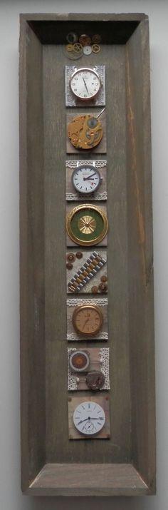 Doppel Inchie mit Uhrenteilen