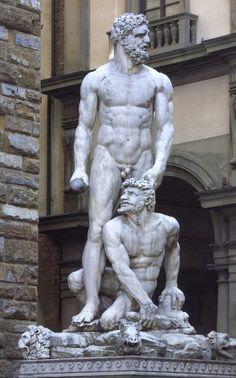 Hercules and Cacas by Baccio Bandinelli, Forence, Piazza della Signoria.