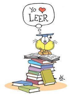 Yo ♥ leer [I love to read. Spanish Teacher, Teaching Spanish, I Love Books, Books To Read, I Love Reading, Kindergarten Classroom, More Than Words, Read Aloud, Teacher Resources
