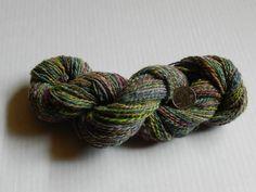 Hand spun wool yarn, 200 yds 2 ply wool yarn spun from the lock, colorful hand dyed, Falls City, Oregon, Pacific Northwest Romney wool yarn by IddellDewGardens on Etsy