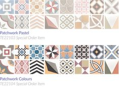 patchwork and pattern tiles