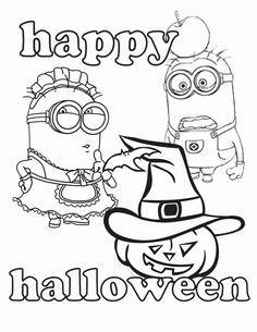 Minion Halloween Coloring Pages